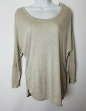 Ambiance Apparel Women's Oatmeal Casual Top Size Large New