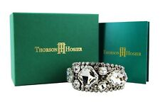 THORSON HOSIER CLEAR CRYSTALS CUFF BRACELET SWAROVSKI NEW $395 USA ORIGINAL BOX