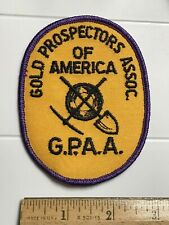 Gold Prospectors Association of America GPAA Shovel Pickaxe Ax Embroidered Patch