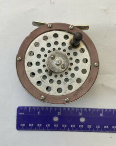 Vintage Martin 61 Single Action Fly Reel. Made In USA. Good Fly Line and Backing