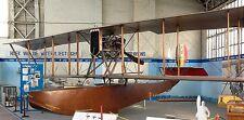 FBA Flying Boat France Reconnaissance Airplane Mahogany Wood Model Large