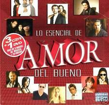 Lo Esencial Del Amor Del Bueno   BRAND NEW SEALED  3 CDS 1DVD