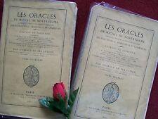 LE PELLETIER ANATOLE : LES ORACLES DE MICHEL DE NOSTREDAME ..1867