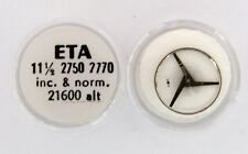 ETA parts  11 1/2 2750 2770  complete timed annular balance. New Old Stock