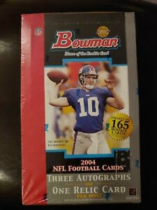 2004 Bowman Football Sealed Jumbo Hobby Box 10pk-3 AUTOS Roethlisberger Manning