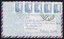 189 CHILE TO US AIR MAIL COVER 1967 SANTIAGO - LOS ANGELES