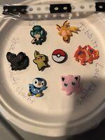 Pokemon Lot Of 8 + kid Bracelet 4 Crocs Shoe & Lace Adapter Charms,Jibbitz