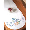 FAIRWAY NEEDLECRAFT Dresser Scarf FLOWER BASKET Stamped for Cross Stitch