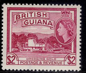 BRITISH GUIANA QEII SG365, $2 reddish mauve, NH MINT. Cat £18.