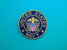 NOVELTY MILITARY U.S. FORCES SEW ON / IRON ON PATCH:- UNITED STATES NAVY