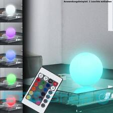RGB LED Tisch Lampe Wohnraum Flur Glas Kugel Leuchte Farbwechsler FERNBEDIENUNG