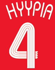 Liverpool Hyypia Nameset Shirt Soccer Number Letter Heat Print Football Euro H