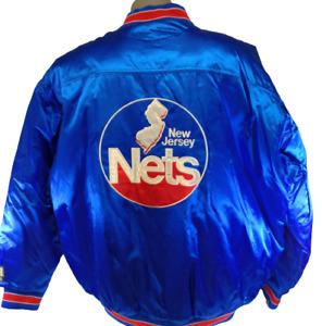 Mens G-III New Jersey NJ Nets Hardwood Classics Nylon Basketball Coat Jacket