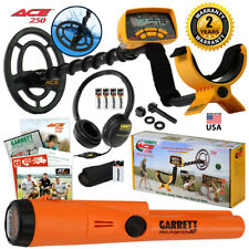 Garrett ACE 250 Metal Detector w/ Waterproof Coil, Pro Pointer AT, Headphones
