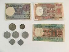 Job Lot, India, One Rupee Note/Coin, Two & Five Rupee Notes, Paise Coins 70s/80s