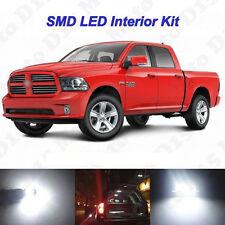 9 x White SMD LED interior + License Plate Lights for 2009-2016 2017 Ram 1500