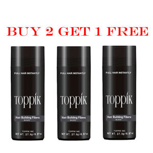 Dark Medium Medium Brown Black 27.5 g Toppik Hair Building Fiber Buy 2 Get 1