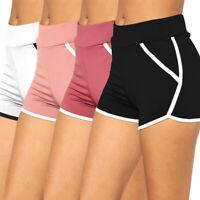 Summer Women Sports Shorts Gym Workout Casual Pants Waistband Skinny Yoga Short
