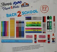 Back 2 School Essentials Pens Pencils Sharpie Expo Paper Mate Elmer's, 37 Count