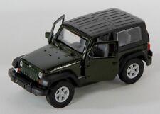 BLITZ VERSAND Jeep Wrangler Rubicon schwarz black Welly Modell Auto 1:34 NEU OVP