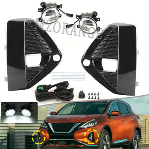 For Nissan Murano 2019-2021 LED Bumper Fog Lights Driving Lamp w/Wiring & Switch