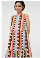 🌈 {NEW} Gorman Show Your Stripes Tiered Organic Cotton Twill Long Dress SZ12-14