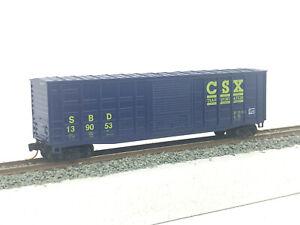 N Gauge / Scale Roundhouse 8184 50' Box Car CSX Transportation MTL Couplers