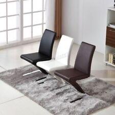 4 Chaises en cuir pour la salle à manger