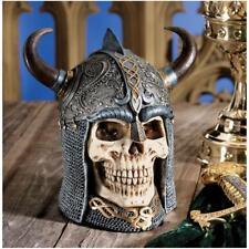 Fearless Mystic Celtic Warrior Horned Helmet Sculpture