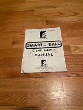 Smart Ball Skill Alley Skeeball Manual, Smart Industries