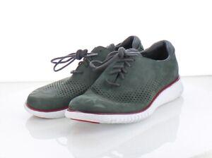 62-61 $120 Men's Sz 7 Cole Haan 2.Zerogrand Laser Cut Wingtip Sneaker - Green