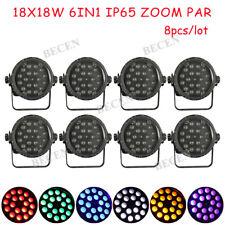 18x18W Waterproof zoom Led Par Light IP65 18x6in1 par light outdoor 8pcs in US