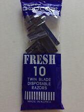 Twin Blade Disposable Super Dorco Disposable Shaving Razors 10Pcs