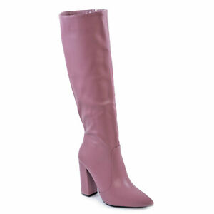Women's Boots Shoes Pointed Knee Length High Heels Booties Toocool X8056