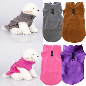 Hot Small Dog Warm Winter Fleece Clothes Pet Puppy Vest Dog Cat Apparel Supplies
