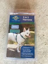 New listing Petsafe 3 in 1 Harness Small -Teal Car Safety Restraint Standard Harness No Pull