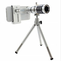 12X Zoom Telephoto Lens, Clip-On HD External Phone Camera Long Focus Lens
