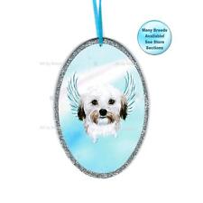 Havanese Angel Ornament Dog With Wings Christmas Ornament Pet Memorial