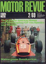 Motor Revue February 1969 Con Spanien, Monaco German Auto Magazine 051617nonDBE