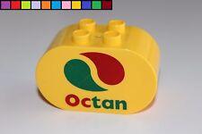 Lego Duplo - Octan - gelb - oval - Baustein - Motivstein