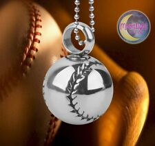 New Baseball Urn Cremation Pendant Ash Silver Memorial Necklace