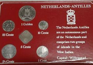 1980 Netherlands Antilles BU 6 Coin Set in Info Card