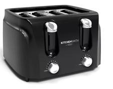 4 2 slice toaster Shiny Black metal plastic dual dial 6 shades auto shut cancel