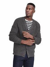 Brand New Banana Republic Fashion Rib Merino Cardigan Color Gray Size S #382432