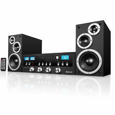 Bluetooth Stereo System Home Theater Speaker Sound Radio CD Player 50W Sub Rack