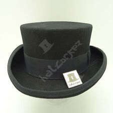 VINTAGE Wool Felt Tuxedo Topper Top Hat Men Women Short Victorian | 59cm | Black