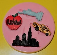 NEW YORK SILICONE MOULD FOR CAKE TOPPERS, CHOCOLATE
