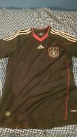 Adidas Germany Deustchland Soccer Jersey Shirt Trikot 2010 Size S Away Black
