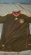 Adidas Germany Deustchland Soccer Jersey Shirt Trikot 2010 Size S Away Black