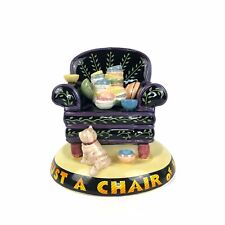 Mary Engelbreit 1994 Life is Just a Chair of Bowlies 6� Bank by Charpente Me Ink
